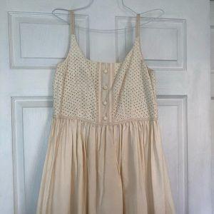 Ann Sui for Anthropologie cream dress